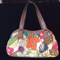 Fossil Canvas Handbag With a Print on It. Photo