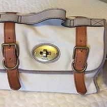 Fossil Canvas Leather Bag Photo