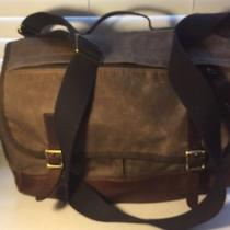 Fossil Canvas & Leather Messenger Bag Nwot. Photo