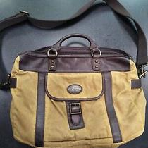 Fossil Canvas & Leather Satchel Satchel Bag ( Laptop Bag)  Photo