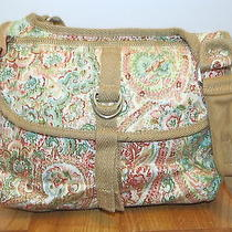 Fossil Canvas Paisley Authentic Classic Easton Crossbody Messenger Organizer Photo