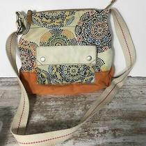 Fossil Canvas Shoulder Cross Body Purse Colorful Photo