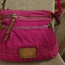 Fossil Canvas Small Messenger Bag Fuschia - Genuine Fossil Quality Purse Photo