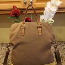 Fossil Canvas Suede Convertibe Bag Purse (Pu180 Photo