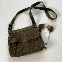 Fossil Canvas Wallet Attached Crossbody Army Green  Photo