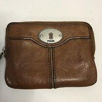 Fossil Card Coin Pouch Clutch Wallet Leather Brown Small Photo
