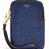 Fossil Carryall Blue Navy Glitter Leather Iphone 4 5 Phone Galaxy S Iii 4 Wallet Photo