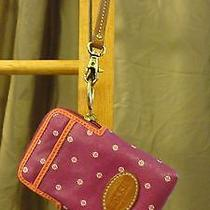 Fossil Carryall Wristlet Cell Wallet Magenta Photo