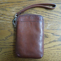 Fossil Cell Phone Wristlet Leather Brown  Photo