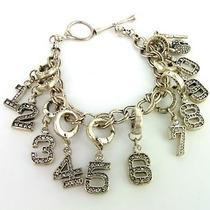 Fossil Charm Bracelet - One of a Kind Numbers Rhinestones - A16r Photo