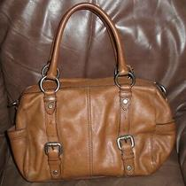 Fossil  Chestnut Brown Leather Maddox Satchel Handbag Purse Tote Bag  New Photo