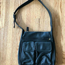 Fossil Classic 75082 Black Leather Shoulder Bag Purse Photo