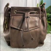 Fossil Classic Brown Leather Drawl String Purse Photo