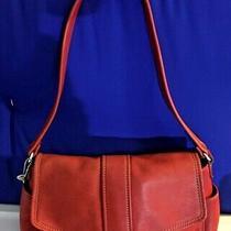 Fossil Classic Dark Red Leather Shoulder Bag Handbag Purse Euc Photo