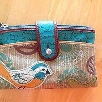Fossil Classic Leather Wallet Birds Photo