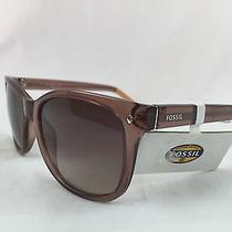 Fossil Clear Brown W/melon Tips Ladies Sunglasses Fos3006s 0xl7 Y6 55 18 135 Photo