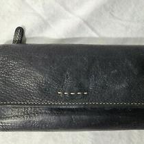 Fossil Clutch Wallet Black Leather. Soft.  Photo