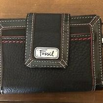 Fossil Clutch Wallet Black/red White New Photo