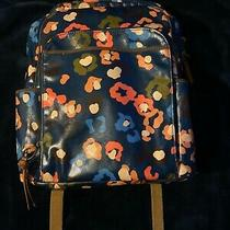 Fossil Coated Canvas Floral Large Backpack Navy Multi Color Photo