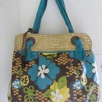 Fossil Coated Canvas Key Per Shopper Tote Bag Purse Photo