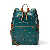 Fossil Coated Canvas Keyper Backpack Teal Peacock Diaper School Bag New Photo
