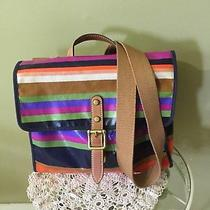 Fossil Coated Canvas  Multi Color Messenger or Carry  Bag Vguc Photo
