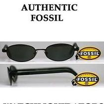 Fossil Cody Eyeware Black Metal Spring Hinge Rx Eyeglass Sunglass Frame Photo
