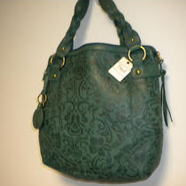 Fossil Colby Tote in Green Leather Nwt Photo
