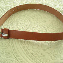 Fossil Coralcolored Leather Belt - Size Medium Photo