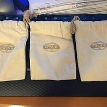 Fossil Cover Dust Jewelry Bag Set of 3 -  3.5 X 5 Inches Photo
