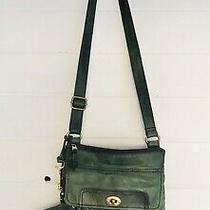 Fossil Croosbody Purse With Clutch Leather Green Photo