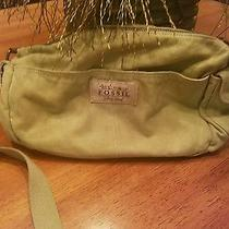 Fossil Cross Body Purse Bag Green  Photo