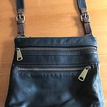 Fossil Crossbody Black Leather Messenger Bag-Lightly Used Photo