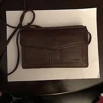 Fossil Crossbody Black Leather Vintage Organizer Shoulder Bag Purse Wallet  Photo