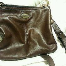 Fossil Crossbody Handbag Brown Leather New Style Excellent Condition Lk Photo
