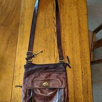 Fossil Crossbody Leather Burgundy Bag Photo