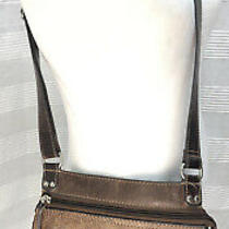 Fossil Crossbody Leather Purse Handbag Flap Classic Brown Photo