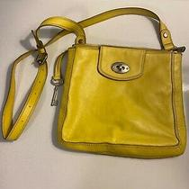 Fossil Crossbody Purse Shoulder Bag Yellow Photo