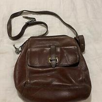 Fossil Crossbody Shoulder Bag Med Brown Leather Purse Satchel Messenger  Photo