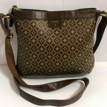 Fossil Crossbody Shoulderbag Messenger Brown Purse Handbag Photo