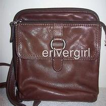 Fossil Crosstown Brown Leather Crossbody Camera Bag Photo
