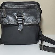 Fossil Crosstown Leather Crossbody Organizer Messenger Satchel Camera Bag Photo