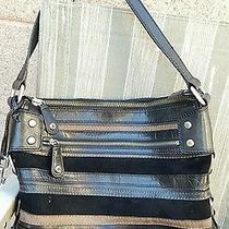 Fossil Cute Black Leather  Large  Shoulder  Bag  Photo