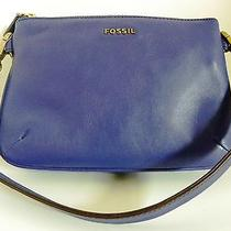 Fossil - Dark Violet Memoir Pocketbook Top Zip - Zb459502 - 118 Nwt Photo