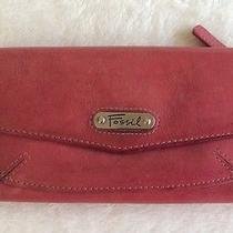 Fossil Deep Red/ Wine Women's Leather Wallet Photo