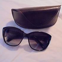 Fossil Designer Sunglasses With Brown Leather Case Euc Photo