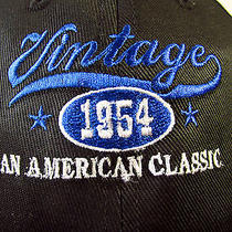 Fossil Designer Vintage 1954 an American Classic Stitched Velcro Baseball Hat  Photo