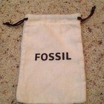 Fossil Dust Bag for Watch Drawstring Beige Brown Photo
