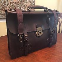 Fossil Edition Archive Collection Brown Burnished Leather Briefcase / Attache Photo