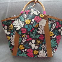 Fossil Eliza Beach Tote With Zippered Pouch Nwt Msp138 Photo